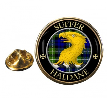 Haldane Scottish Clan Round Pin Badge