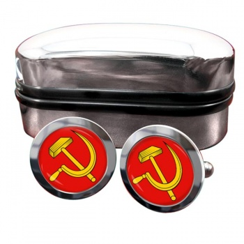 Hammer and Sickle Round Cufflinks