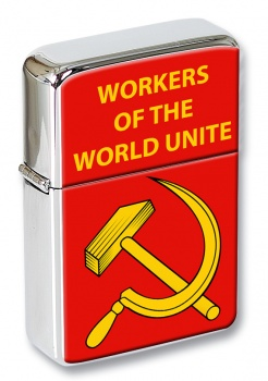 Hammer and Sickle Flip Top Lighter