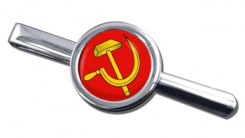 Hammer and Sickle Round Tie Clip