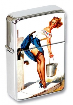 Handle With Care Pin-up Girl Flip Top Lighter