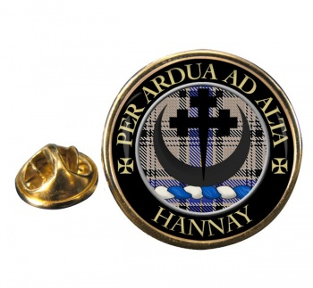 Hannay Scottish Clan Round Pin Badge