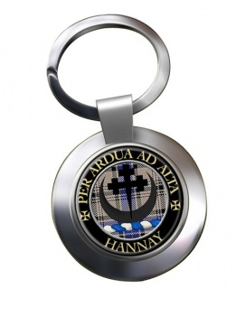Hannay Scottish Clan Chrome Key Ring