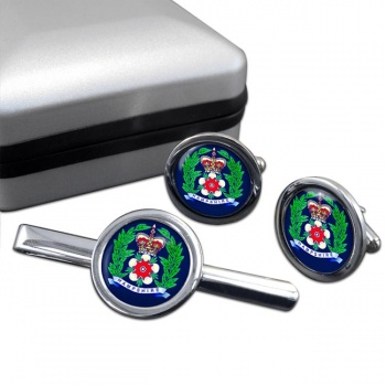 Hampshire Constabulary Round Cufflink and Tie Clip Set