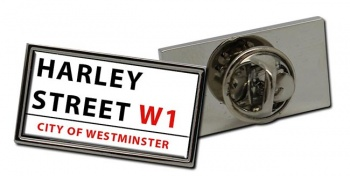 Harley Street Rectangle Pin Badge