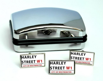 Harley Street Rectangle Cufflink and Tie Pin Set