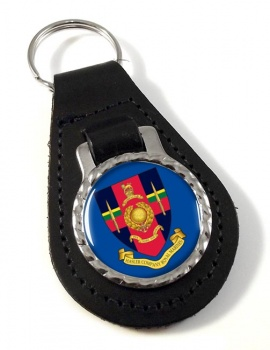 Hasler Company Royal Marines Leather Key Fob