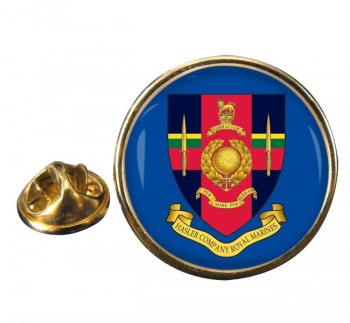 Hasler Company Royal Marines Round Pin Badge