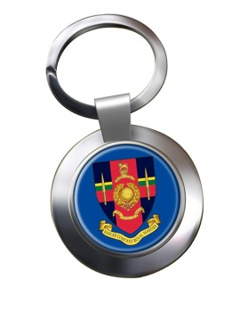 Hasler Company Royal Marines Chrome Key Ring