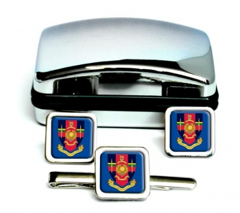 Hasler Company Royal Marines Square Cufflink and Tie Clip Set
