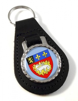 Le Havre (France) Leather Key Fob