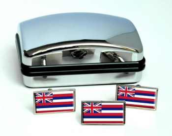 Hawaii  Flag Cufflink and Tie Pin Set