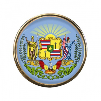 Hawaii Round Pin Badge