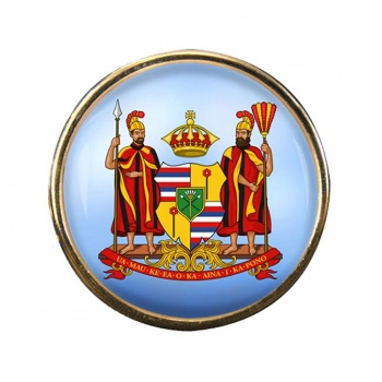 Kingdom of Hawaii Round Pin Badge