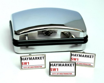 Haymarket Rectangle Cufflink and Tie Pin Set