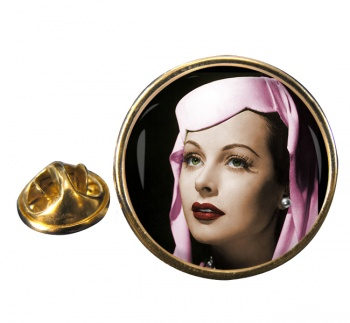 Hedy Lemar Round Pin Badge