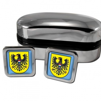 Heilbronn Germany Square Cufflinks