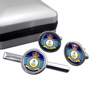 RAF Station Hendon Round Cufflink and Tie Clip Set