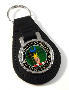 Henderson Scottish Clan Leather Key Fob