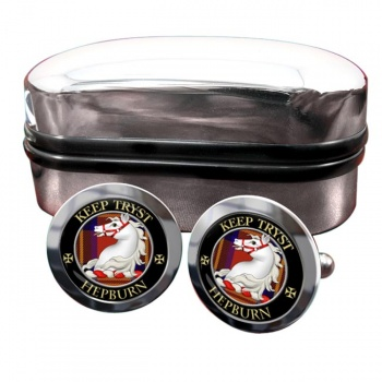 Hepburn Scottish Clan Round Cufflinks