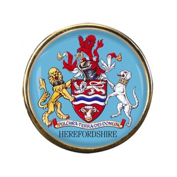 Herefordshire (England) Round Pin Badge