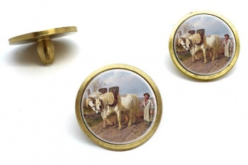 Horse Drawn Harrow by Herring  Golf Ball Marker Set