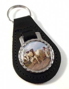 Horse Drawn Harrow by Herring Leather Key Fob