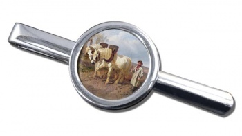 Horse Drawn Harrow by Herring Tie Clip