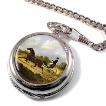 Horse and Gig by Herring Pocket Watch
