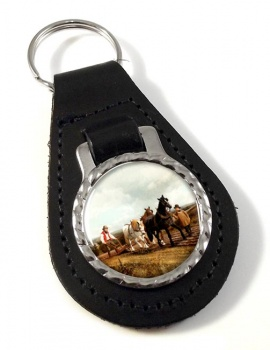 Horse Plough by Herring Leather Key Fob