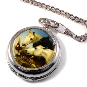 Horses and Doves by Herring Pocket Watch