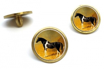 Pie-bald Horse by Herring  Golf Ball Marker Set