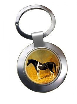Pie-bald Horse by Herring Metal Key Ring
