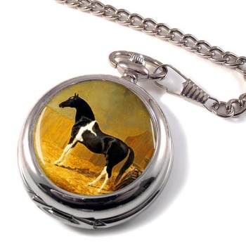 Pie-bald Horse by Herring Pocket Watch