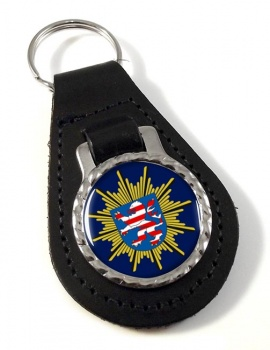 Hessische Polizei Leather Key Fob