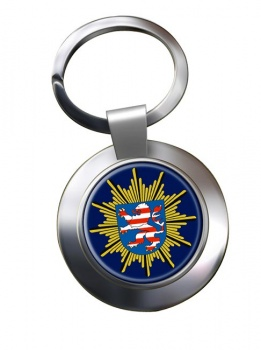 Hessische Polizei Chrome Key Ring