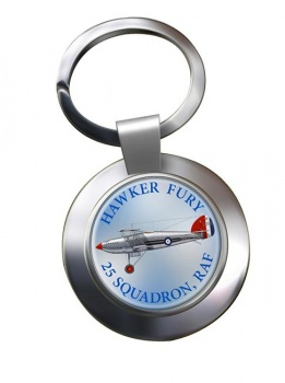 Hawker Fury Chrome Key Ring