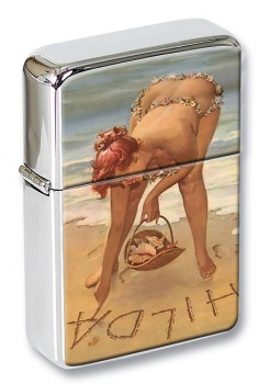 Hilda Pin-up Girl Flip Top Lighter