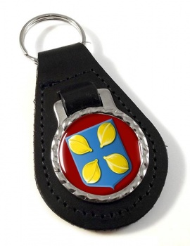 Hilversum (Netherlands) Leather Key Fob