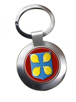 Hilversum (Netherlands) Metal Key Ring