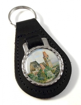 Austrian Church by Adolf Hitler Leather Keyfob
