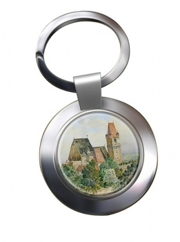 Austrian Church by Adolf Hitler Chrome Key Ring