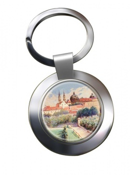A Painting by Adolf Hitler Chrome Key Ring