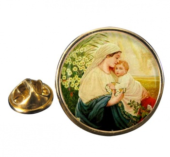 Mother Mary by Adolf Hitler Pin Badge
