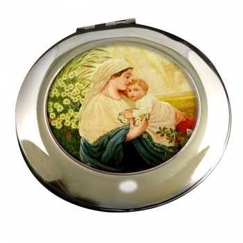 Mother Mary by Adolf Hitler Round Mirror