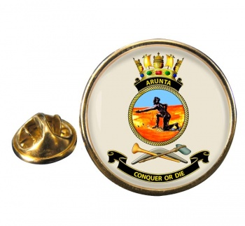 HMAS Arunta Round Pin Badge