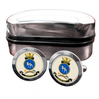 HMAS Aware Round Cufflinks