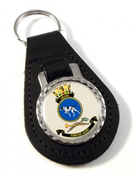 HMAS Aware Leather Key Fob