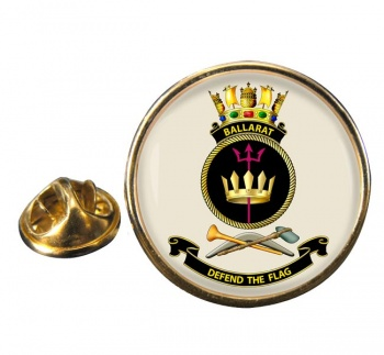 HMAS Ballarat Round Pin Badge