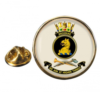 HMAS Brisbane Round Pin Badge